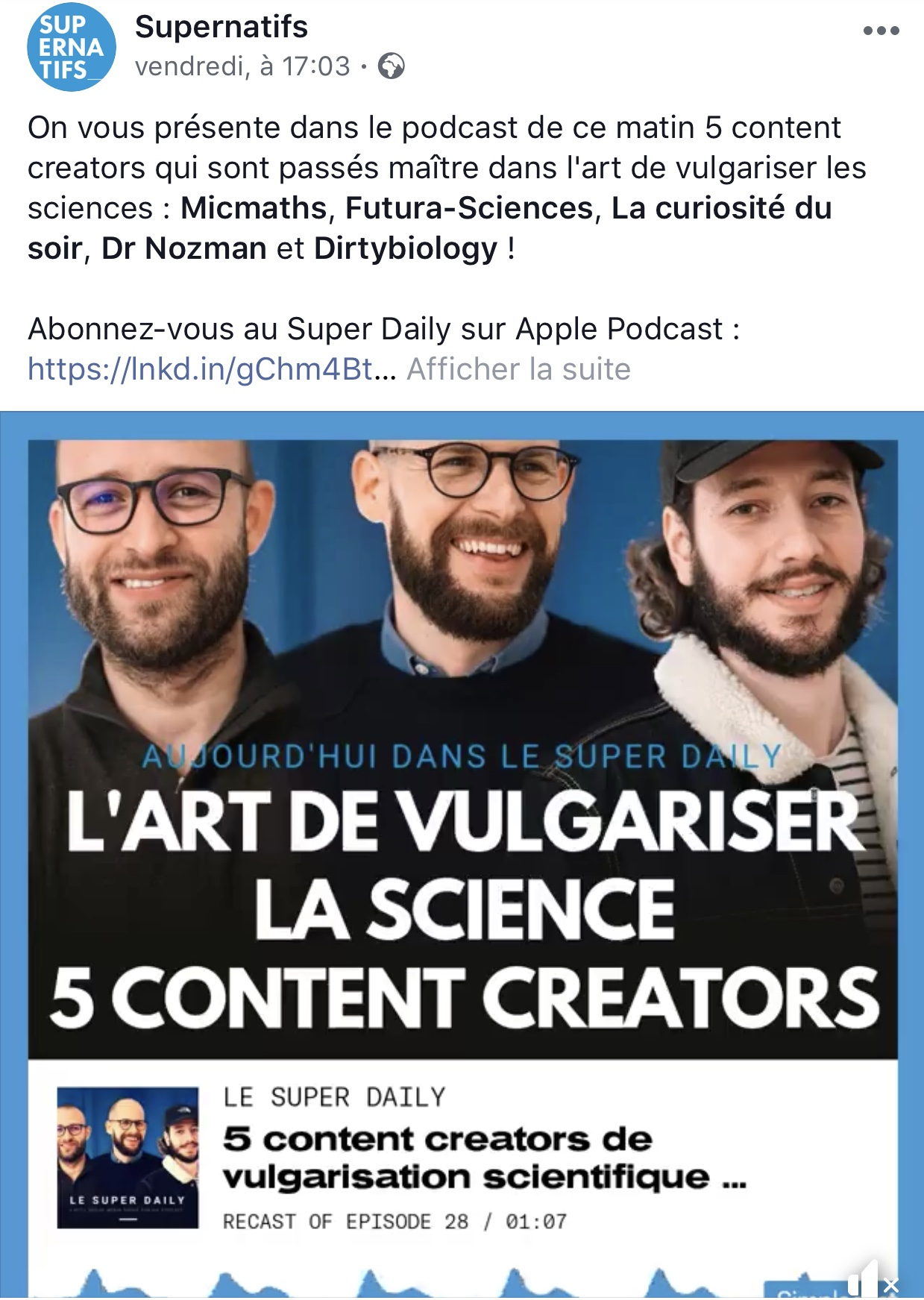 Le Super Daily Podcast Facebook 3