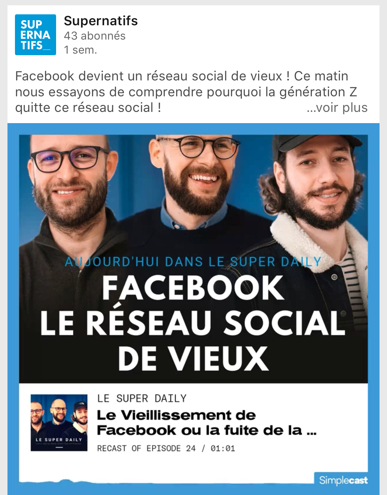Le Super Daily Podcast Facebook
