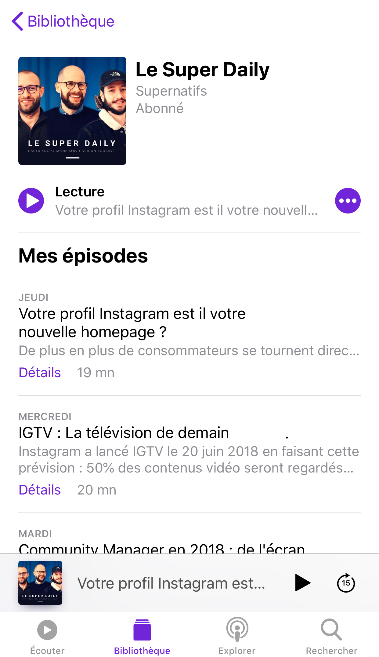 Le Super Daily Podcast Apple Podcast