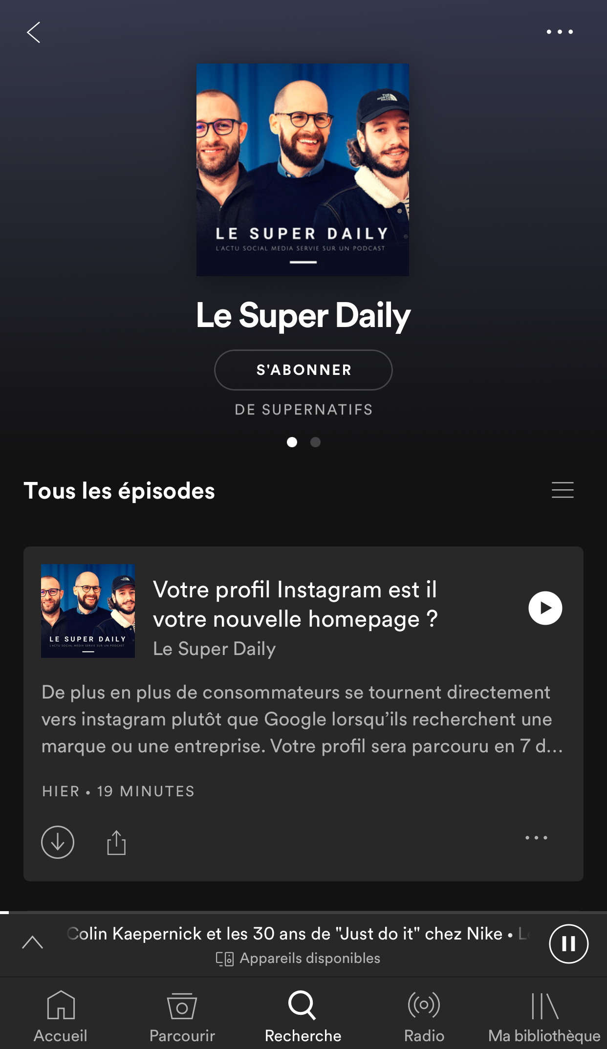 Le Super Daily Podcast Spotify